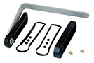 End panel kit ABK - 1 flat end panel, 1 deep end panel with access plug, and tilt stand