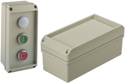 conTROL IP66 diecast aluminum enclosures with button recess