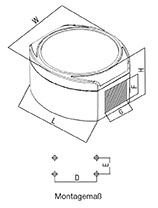 aluDISC Enclosures Dimensions