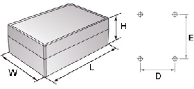 aluCLIC Enclosures Dimensions