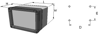 aluFACE KVE Enclosures Dimensions