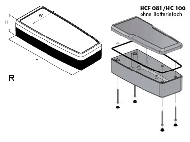 handCASE Version R Enclosures Dimensions
